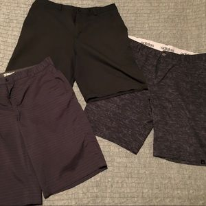 Men's golf shorts lot, buy all three for one price